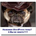 Как узнать название WordPress темы, установленной на другом сайте?